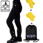 MotoGirl Full Kevlar Leggings (Zip) Petite leg