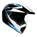 AGV AX-9 North Black/White/Cyan Helmet