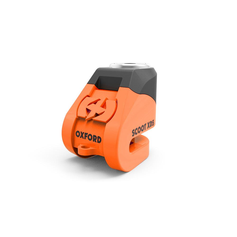 OXFORD - Scoot XD5 disc lock(5mm pin)Orange/black