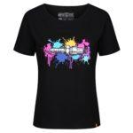 MotoGirl Bright Spark T-Shirt – Black