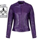 MOTOGIRL Valerie Purple Leather Jacket
